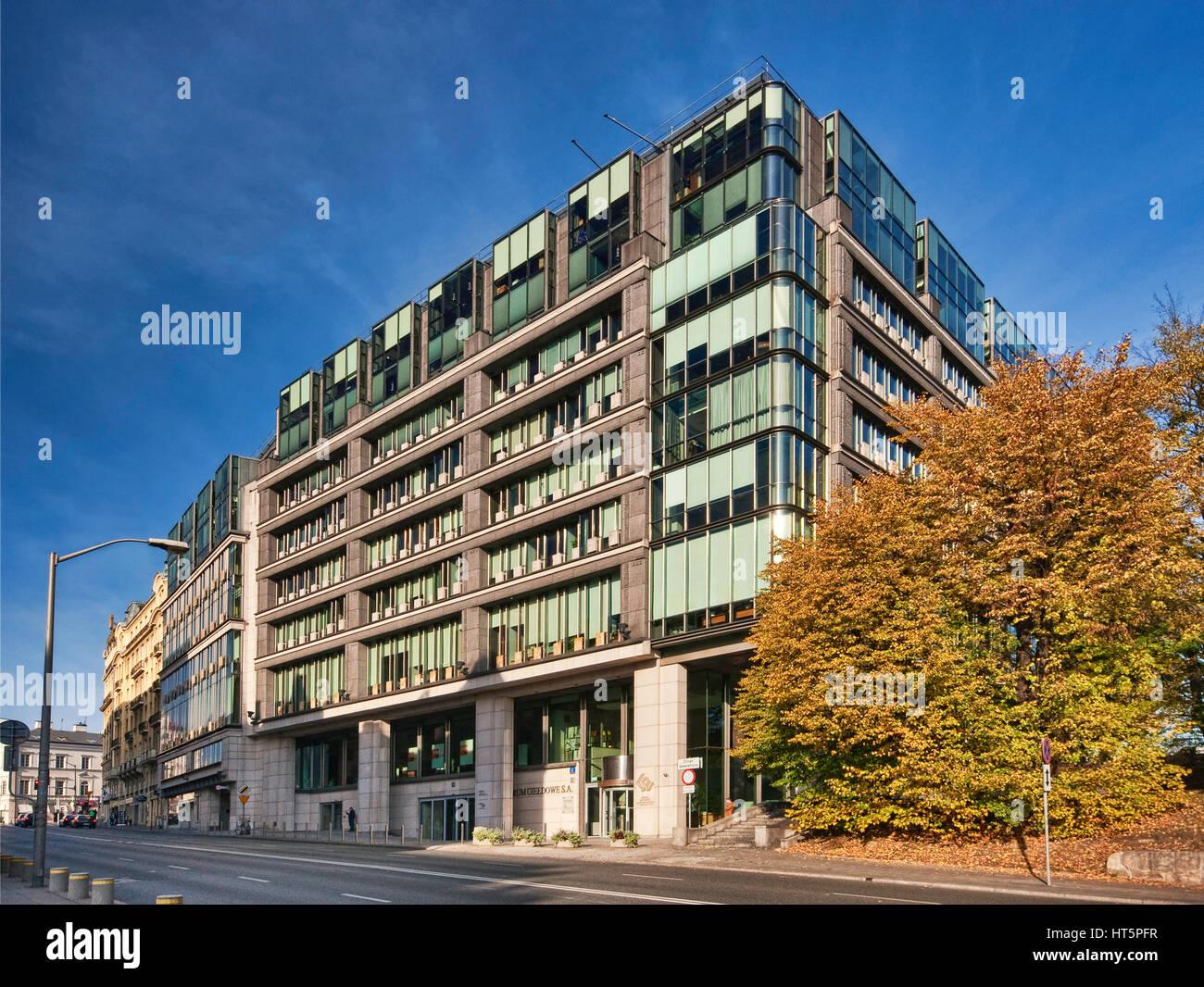 Exchange Center, Heimat der Warschauer Börse in Warschau, Polen Stockbild