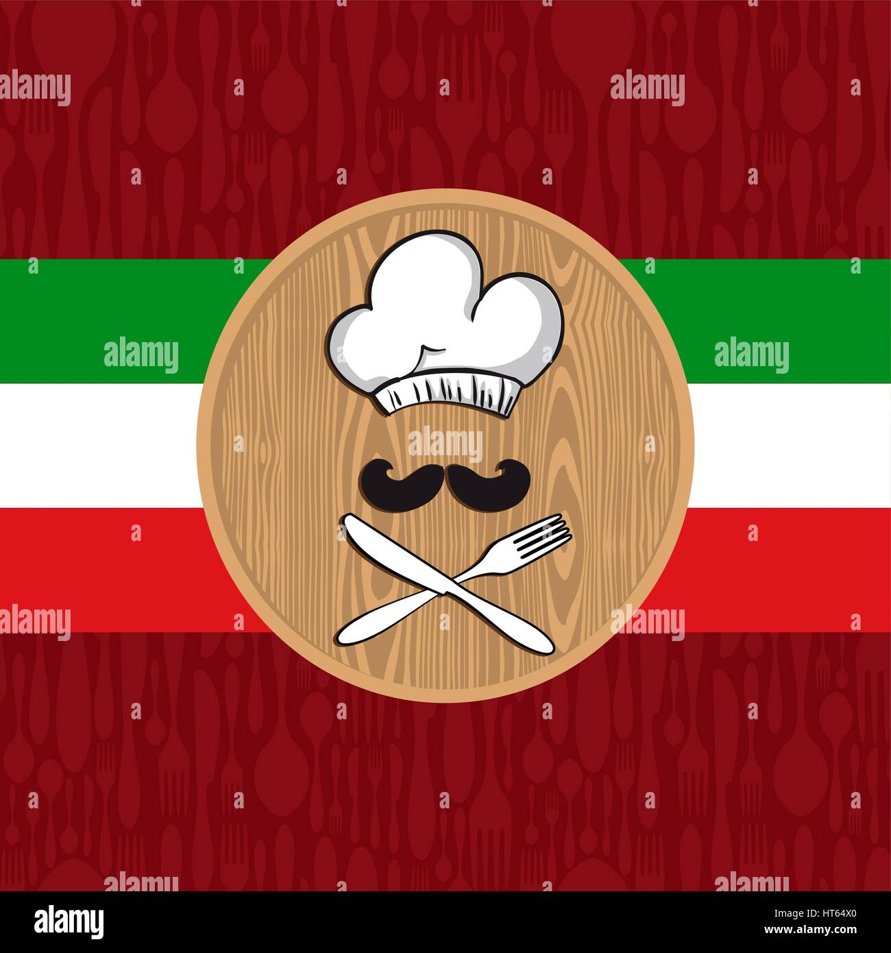 Illustration Cartoon Chef Cook Menu Stockfotos & Illustration ...