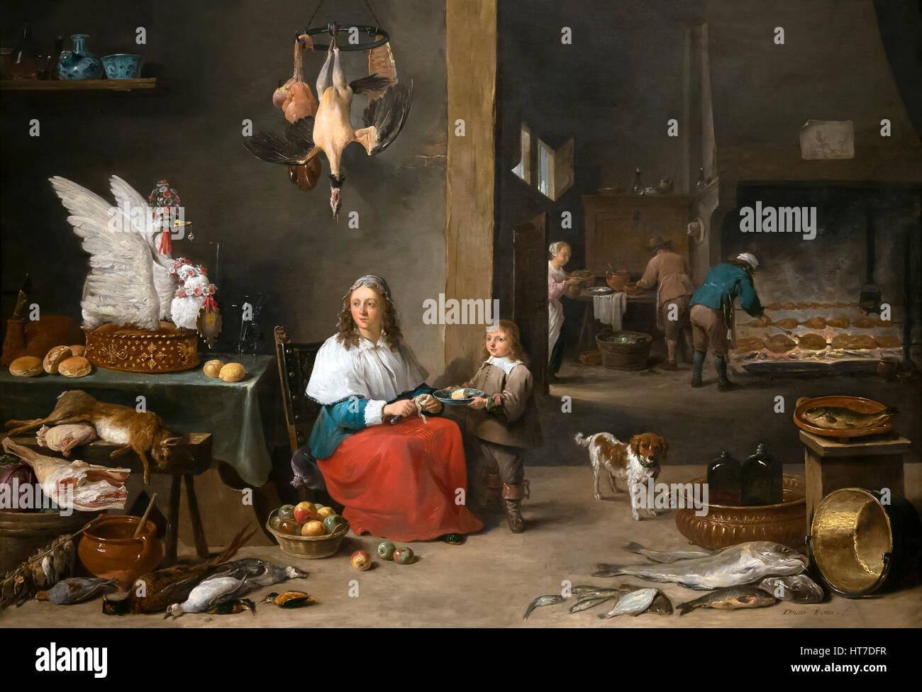kche interieur von david teniers der jngere 1644 royal kunstgalerie museum mauritshuis den haag niederlande europa