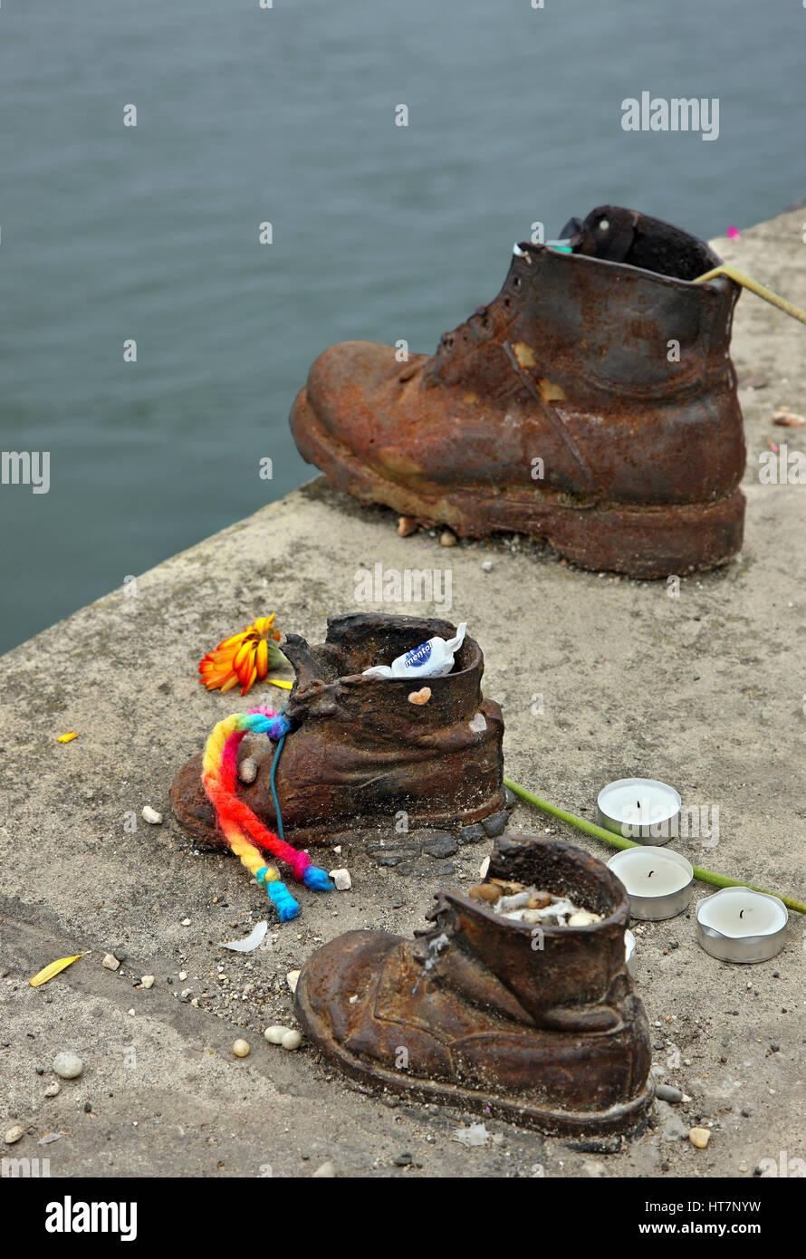 Detail Vom Schuhe Am Donauufer Memorial An Der Seite Von Pest