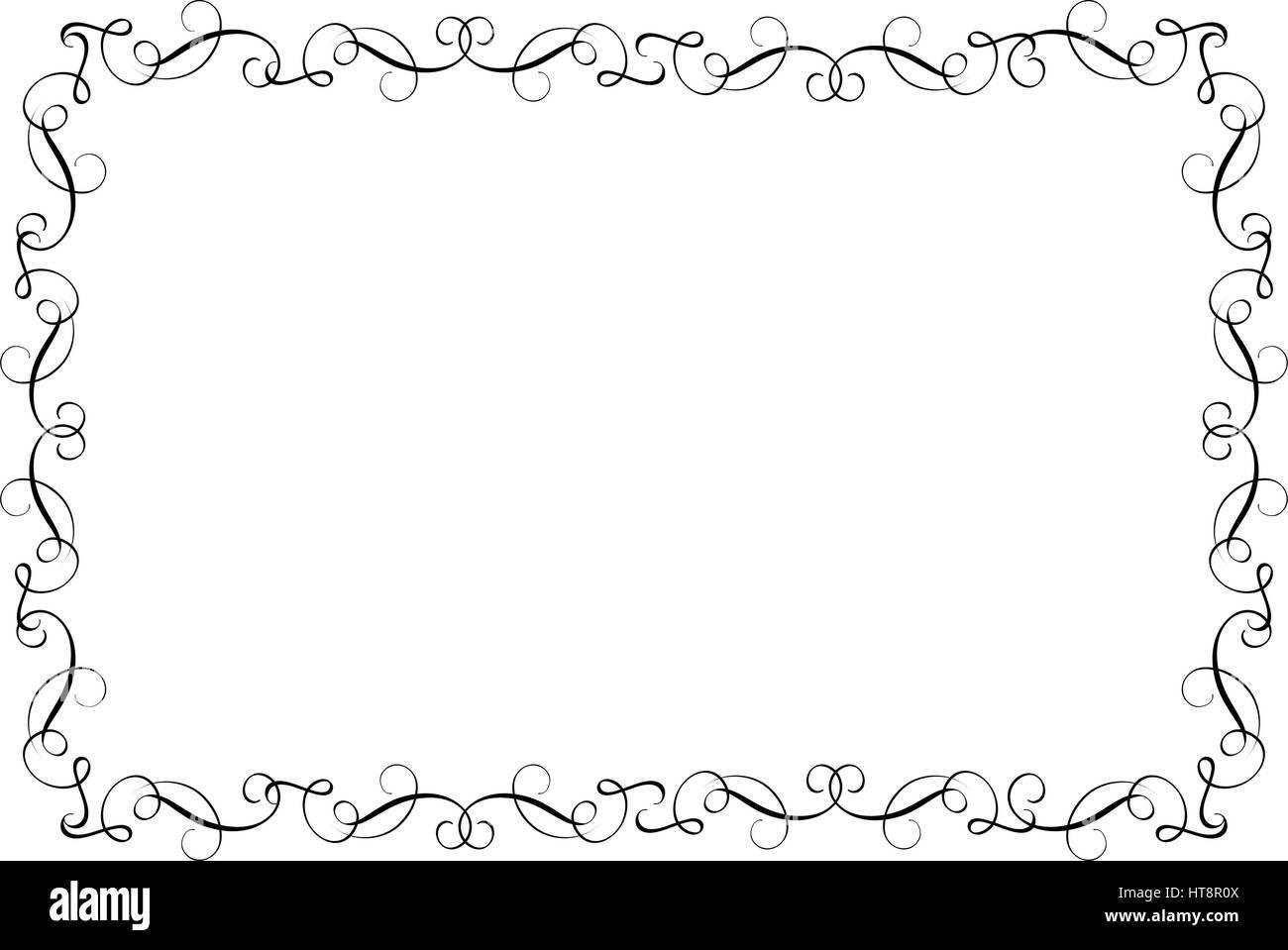 Dekorative Rahmen und Grenzen-Kunst. Kalligraphie, Vektor ...