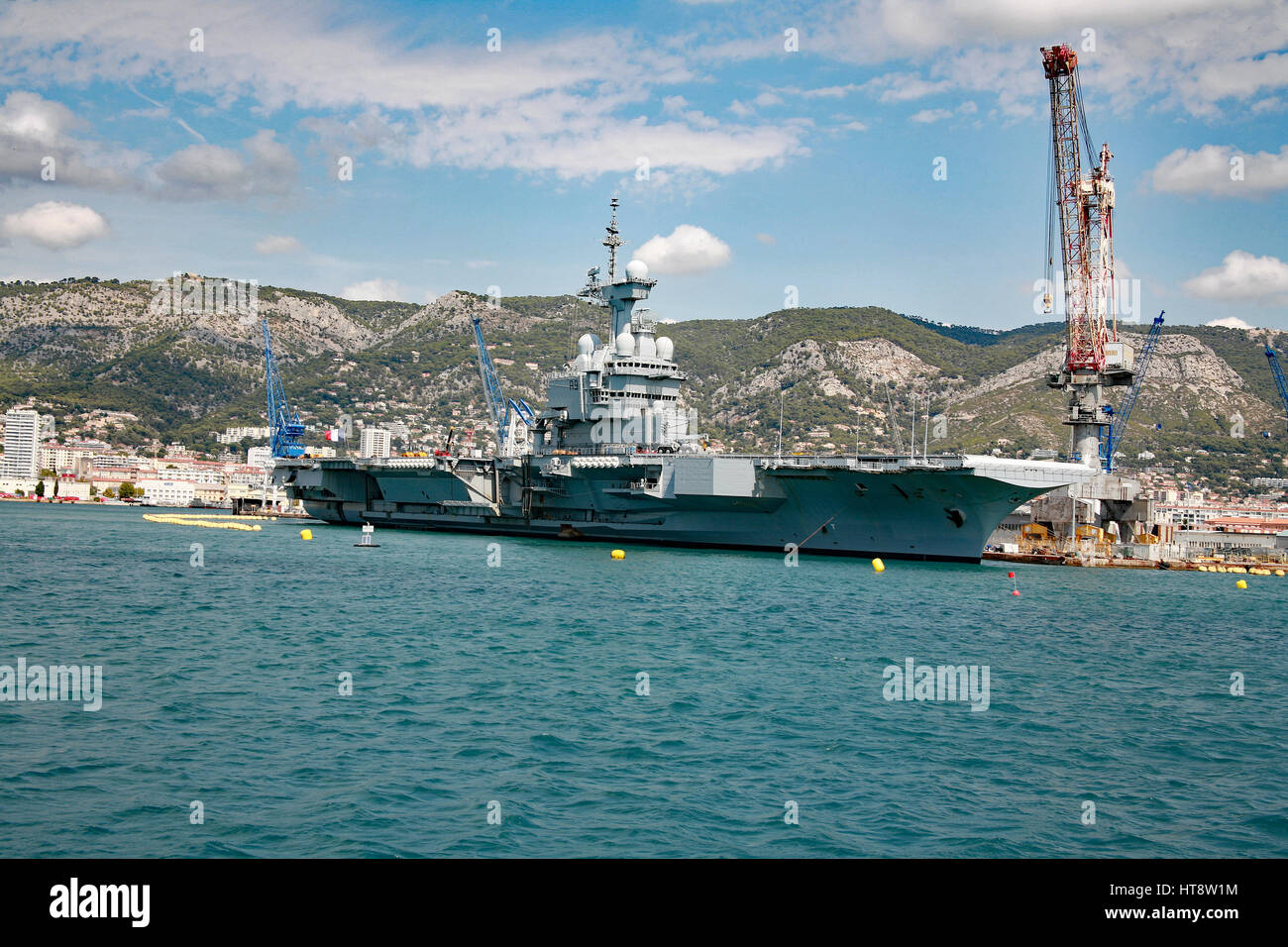 Kriegshafen Toulon, Frankreich Stockbild