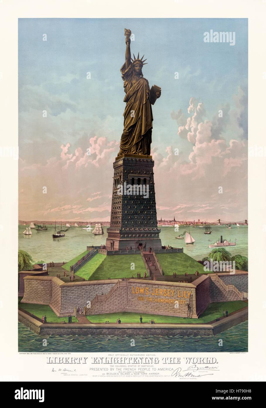 Statue Liberty Construction Stockfotos & Statue Liberty Construction ...