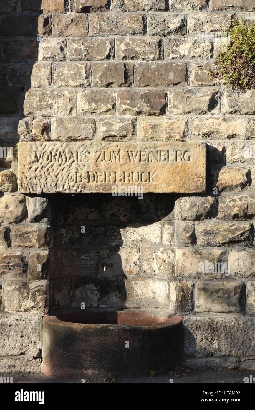 Gedenkstein in Heidelberg Stockbild