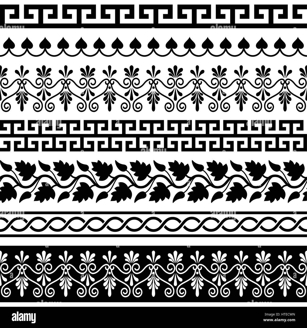 Antike Griechische Muster Sinnlose Reihe