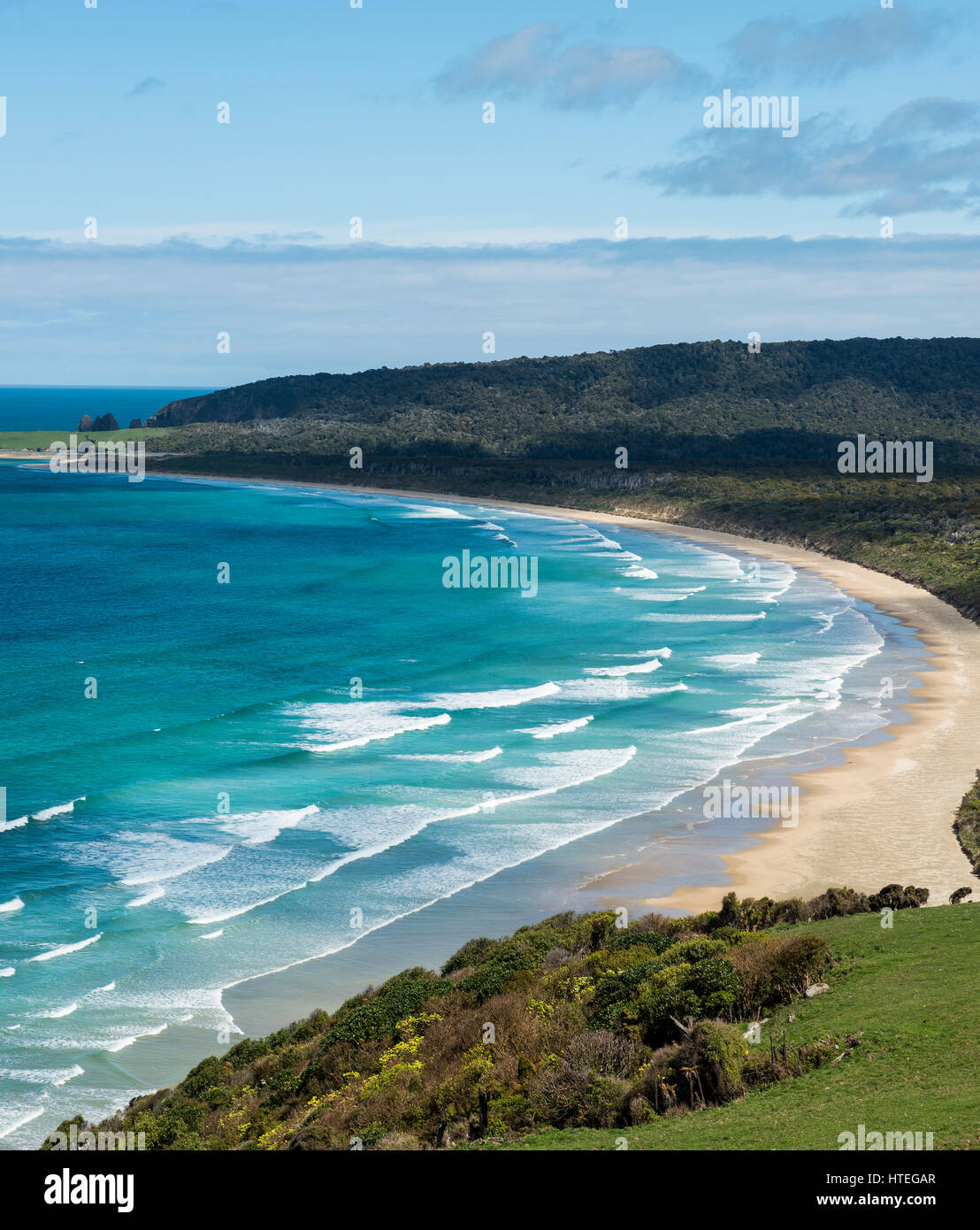 Lookout Florenz Hill Lookout Strand Tautuku Bay Die Catlins
