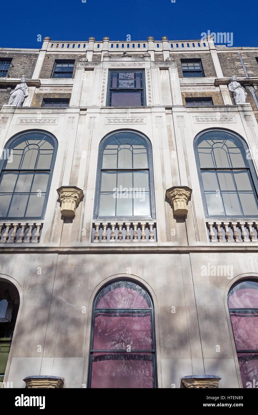 London, Holborn die Fassade des Sir John Soane Museum auf der Nordseite des Lincoln es Inn Fields Stockfoto