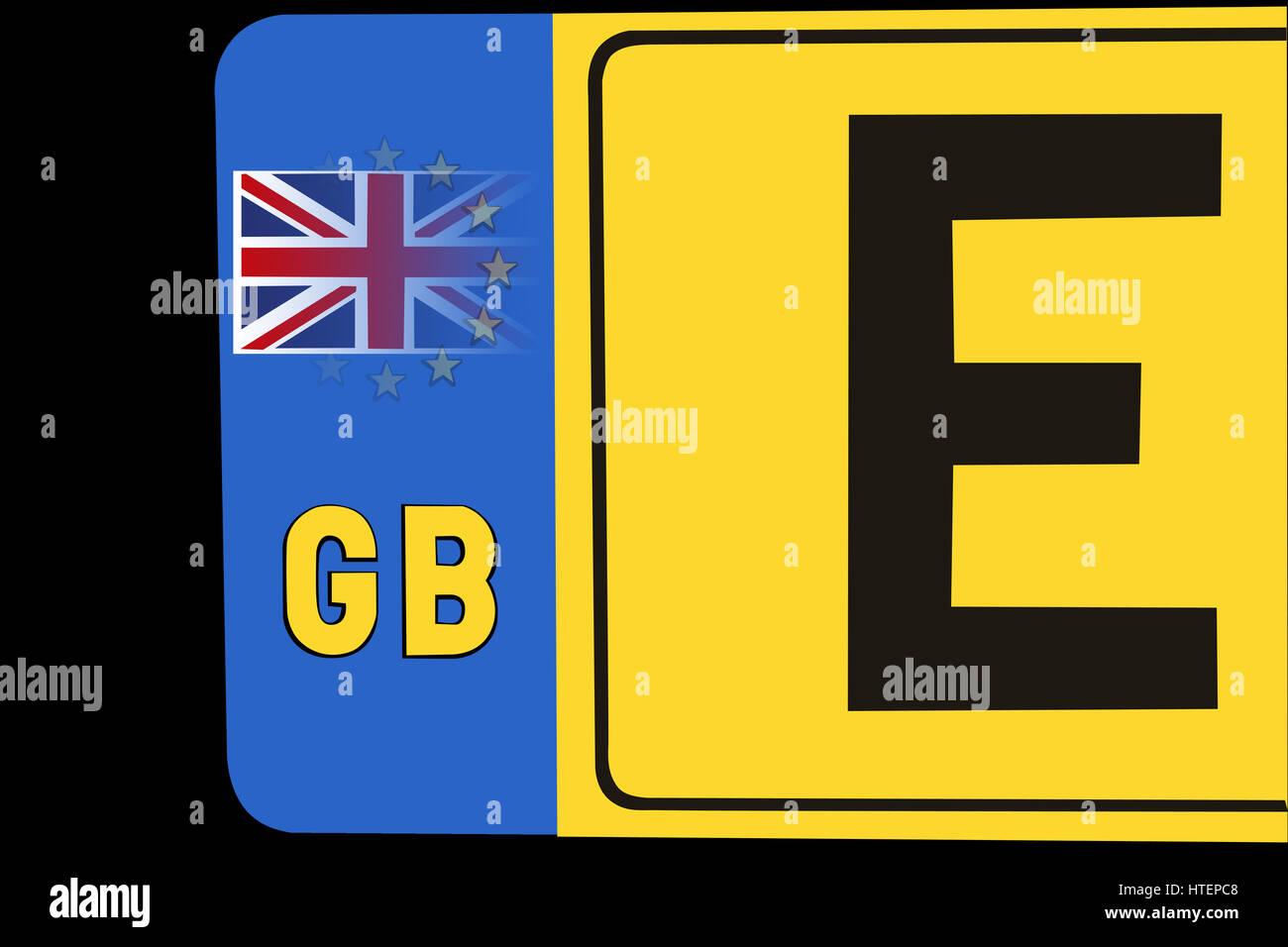 Ein GB Kfz-Kennzeichen mit dem Europäischen Symbol ausblenden und ...