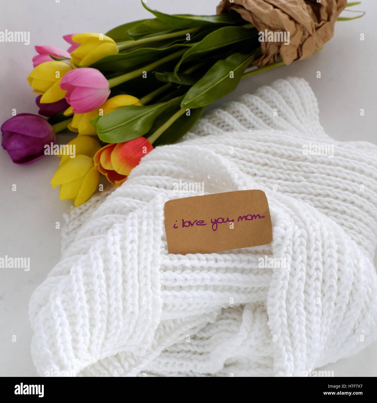 Gluckliche Muttertag Sinnvolle Selbstgemachtes Geschenk Mit Weissen