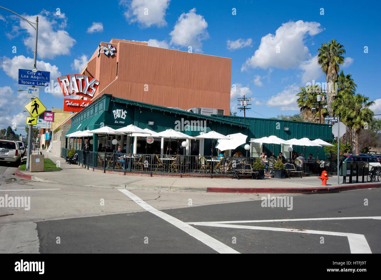 Patys klassisches Diner und Coffee-Shop in Toluca Lake, Kalifornien Stockbild