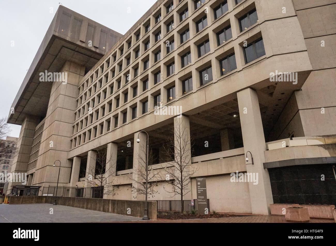 Das hauptquartier der federal bureau der investigation fbi im j