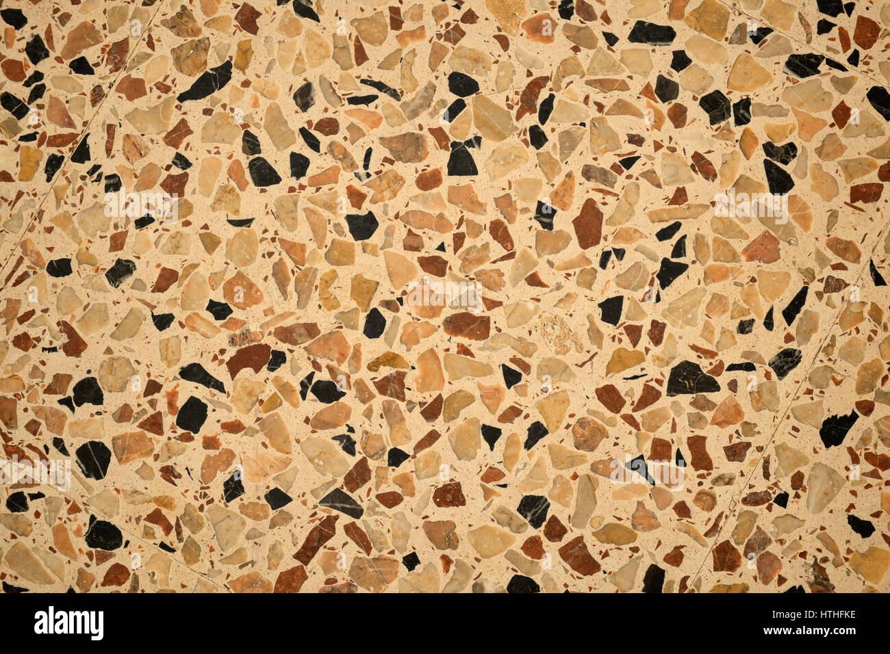 Fußbodenbelag Terrazzo ~ Full frame nehmen eine terrazzo bodenbelag muster stockfoto bild