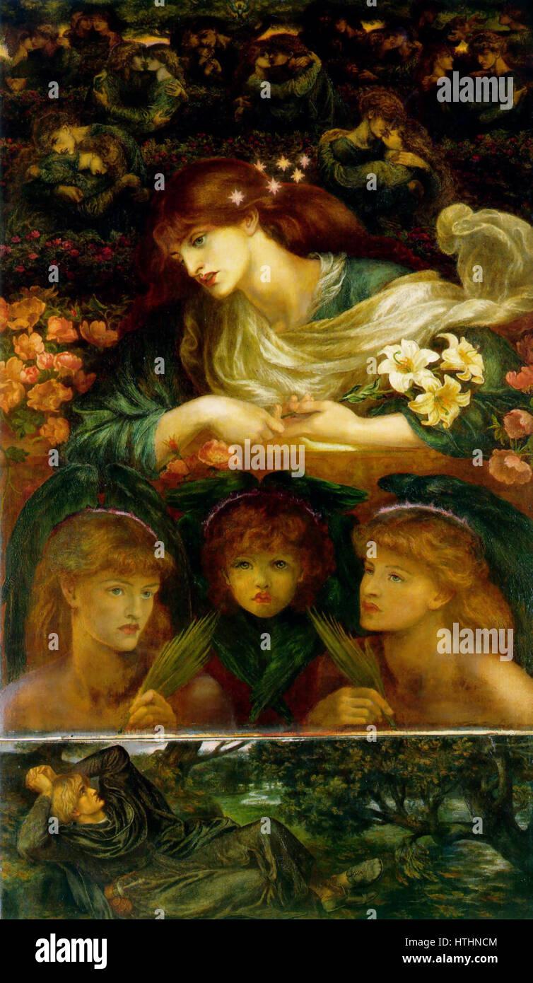 Dante Gabriel Rossetti Blessed Damozel Stockfoto