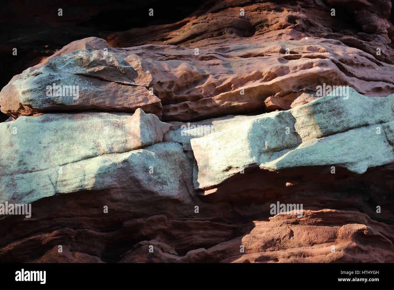 Buntsandstein Und Roter Fels Im Pfalzer Wald Stockbild