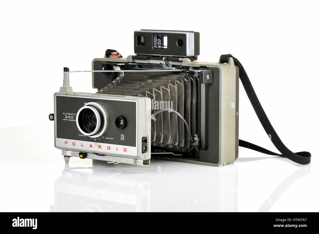 Brüssel, Belgien - 3. Februar 2014: Illustrative Editorial von einem Vintage Polaroid Sofortbildkamera Stockbild