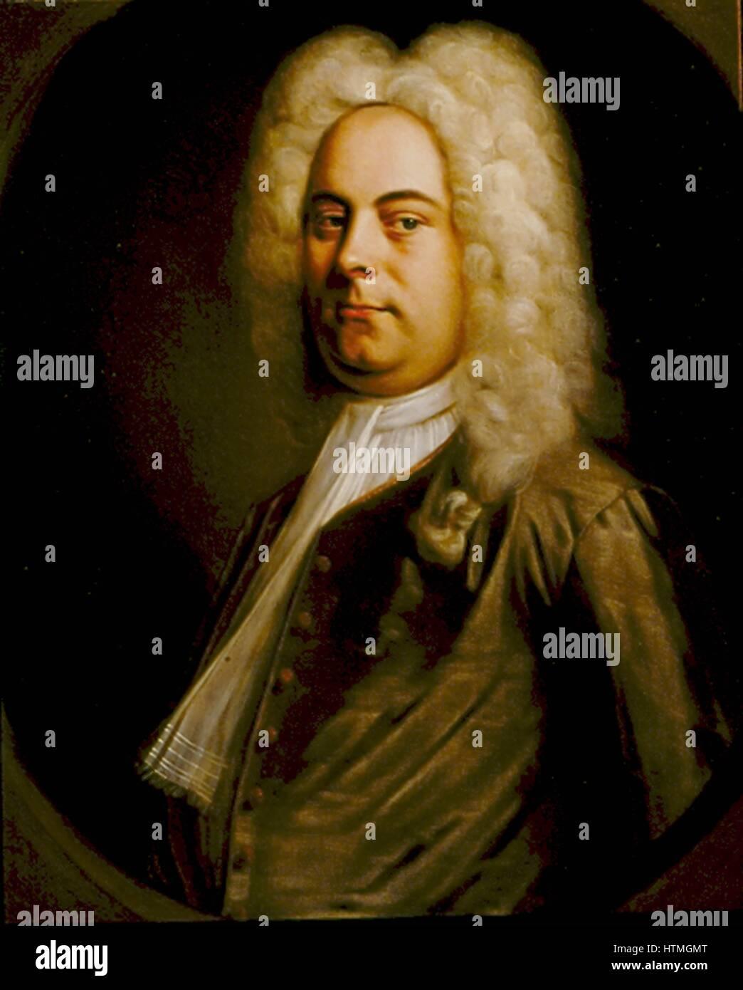 George Frederic Handel (1685-1759) Deutsch geborenen Komponisten, die in England nieder. Porträt von 1726-1728 Stockbild