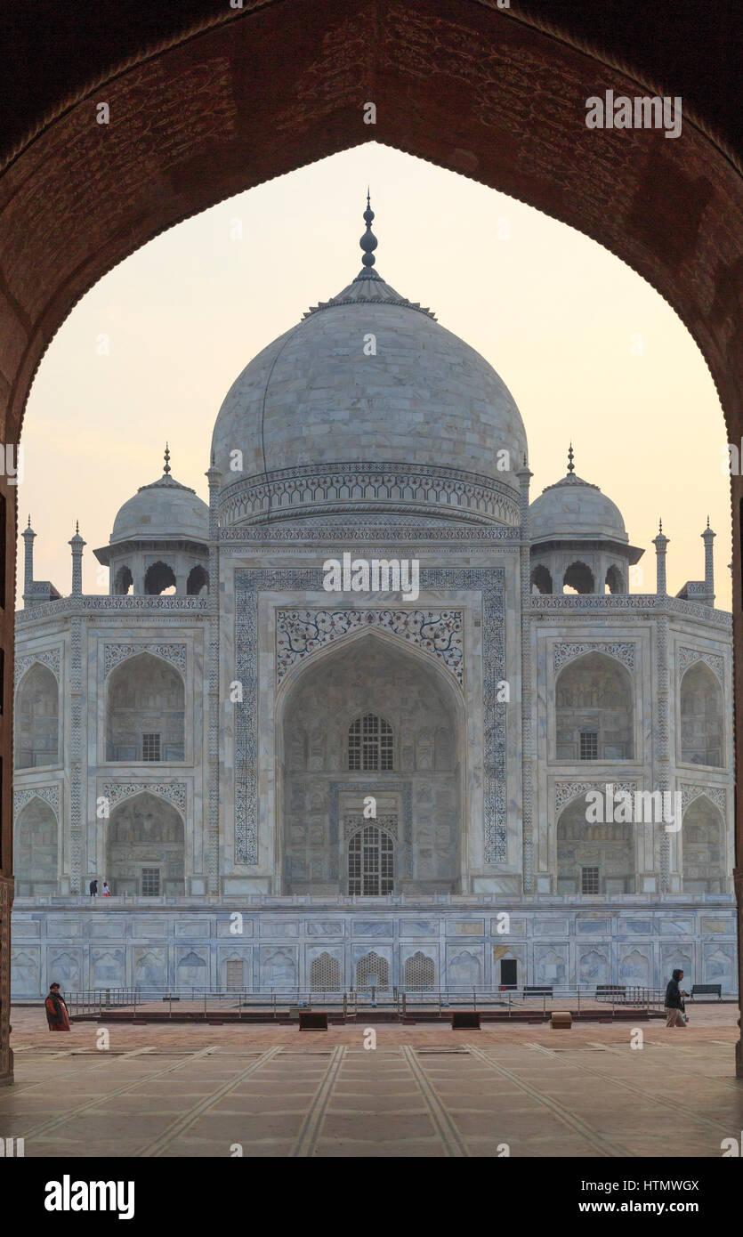 Taj Mahal, Uttar Pradesh, Indien Stockbild