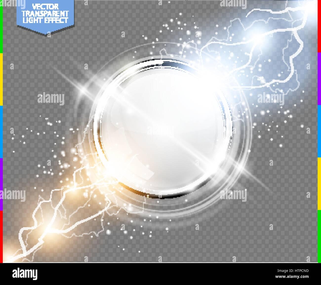 Abstrakte Metall Chrom Ring macht Wissenschaft transparenten ...