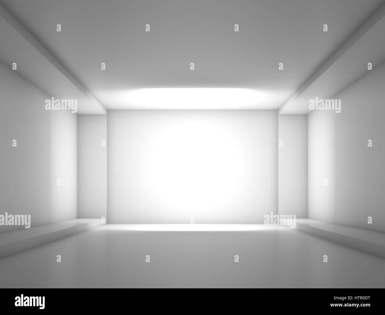 Abstrakte zeitgenössische innen weiß, Blick nach vorne auf einem ...