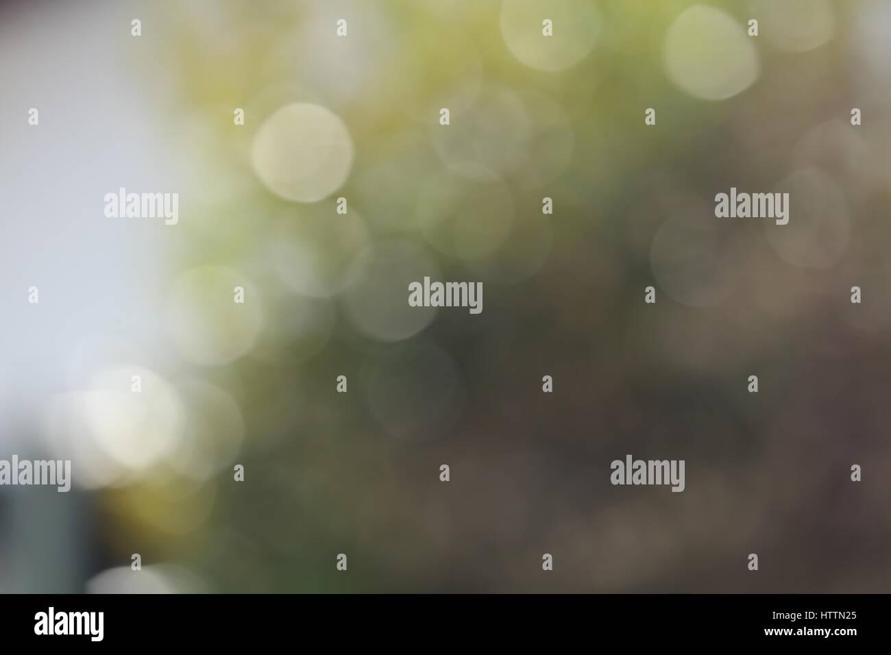 Hintergrund Bokeh Lichtreflexe Weiß Grün gelb Stockbild