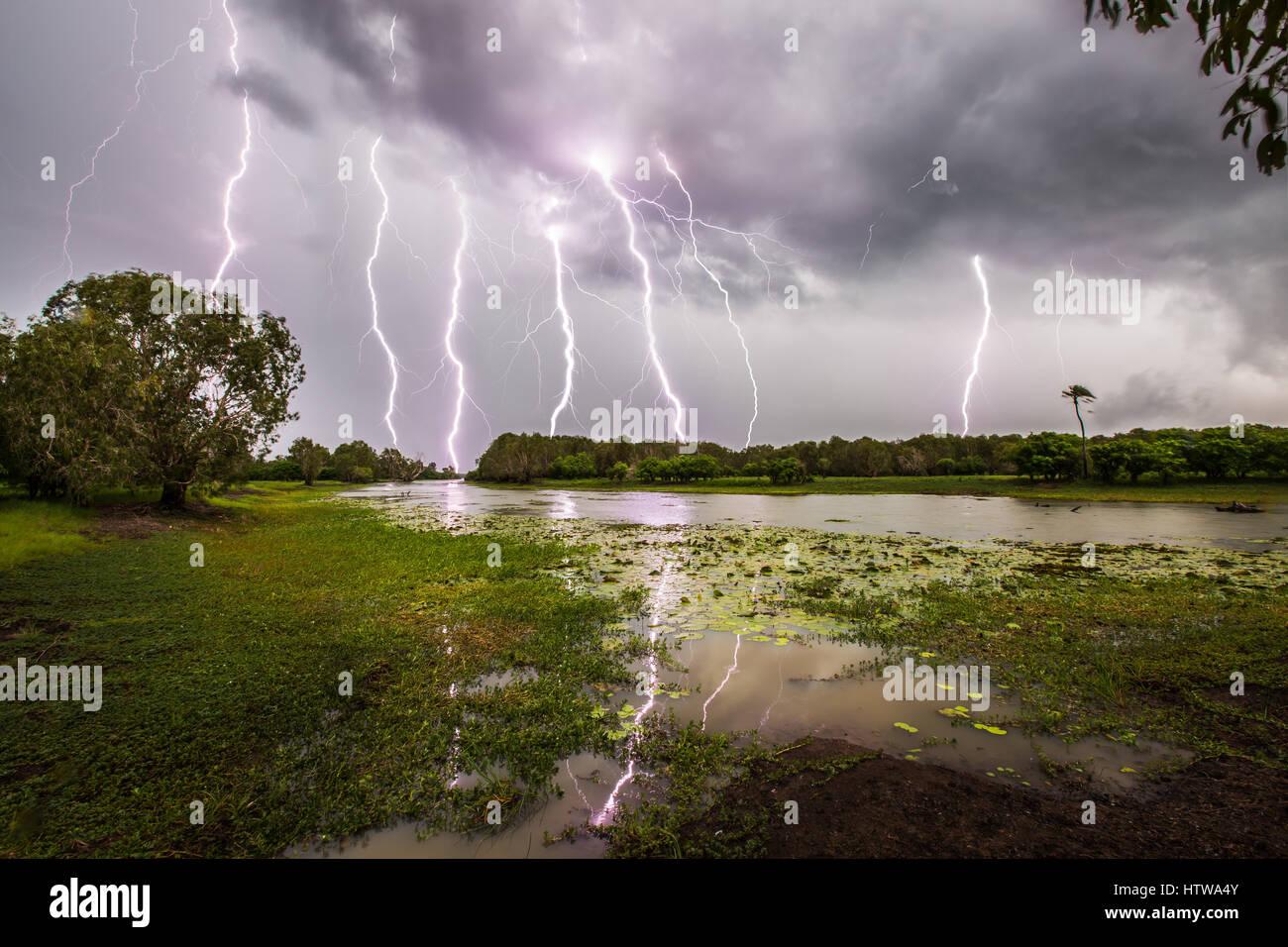 Blitz - Australien Stockbild