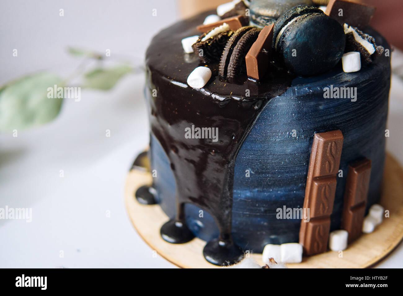 Schone Designer Schokolade Kuchen Stockfoto Bild 135825719 Alamy