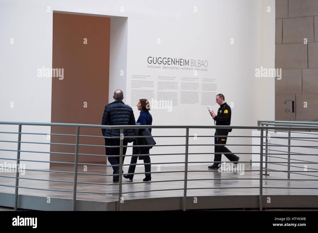 Bilbao, Spanien: das Interieur des Guggenheim Museum Bilbao, das ...