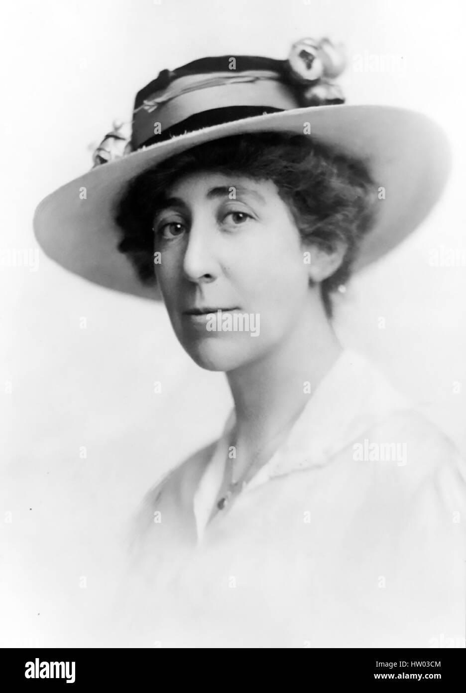 JEANETTE RANKIN (1880 ? 1973), US-amerikanischer Politiker, Pazifist und Kämpferin für Frauen Stockbild