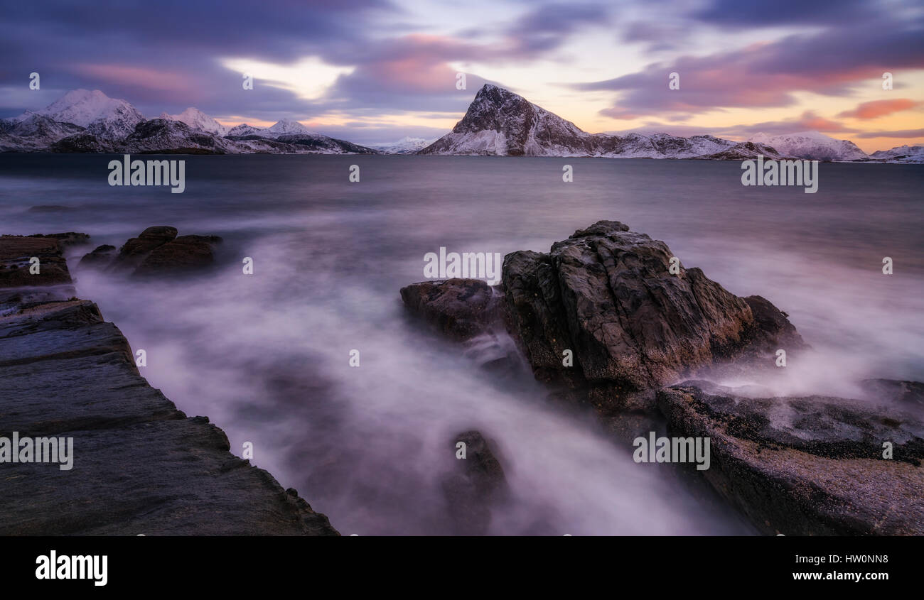 Lofoten im Winter Stockbild