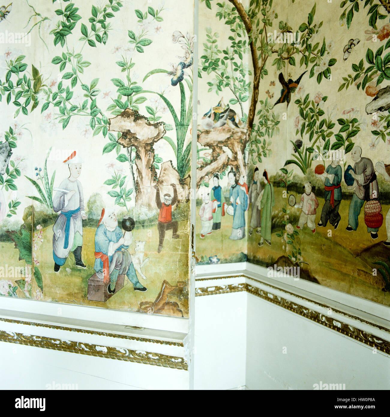Wandbild an der Wand. Stockbild