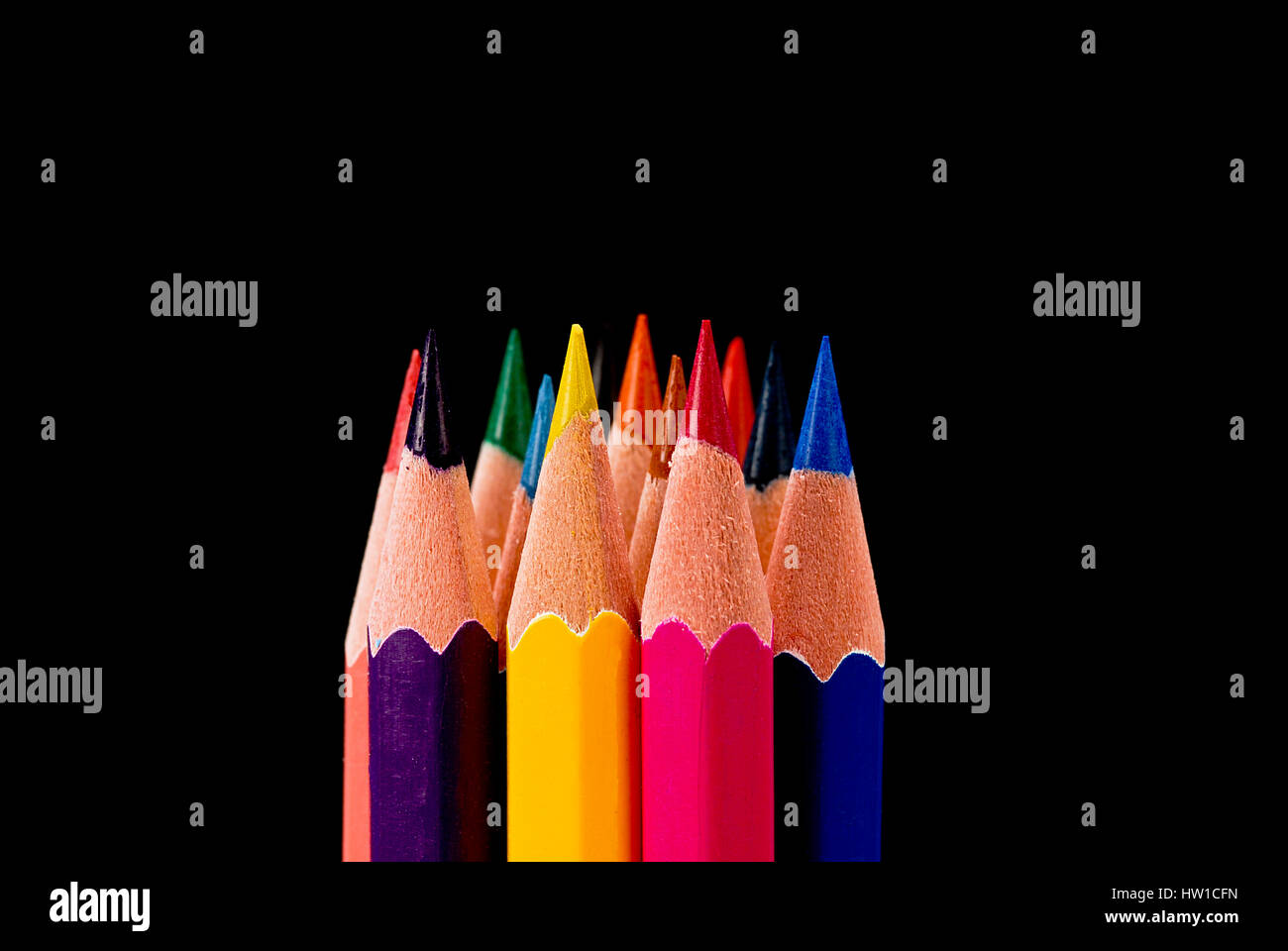 Farbstifte, Buntstifte Stockbild