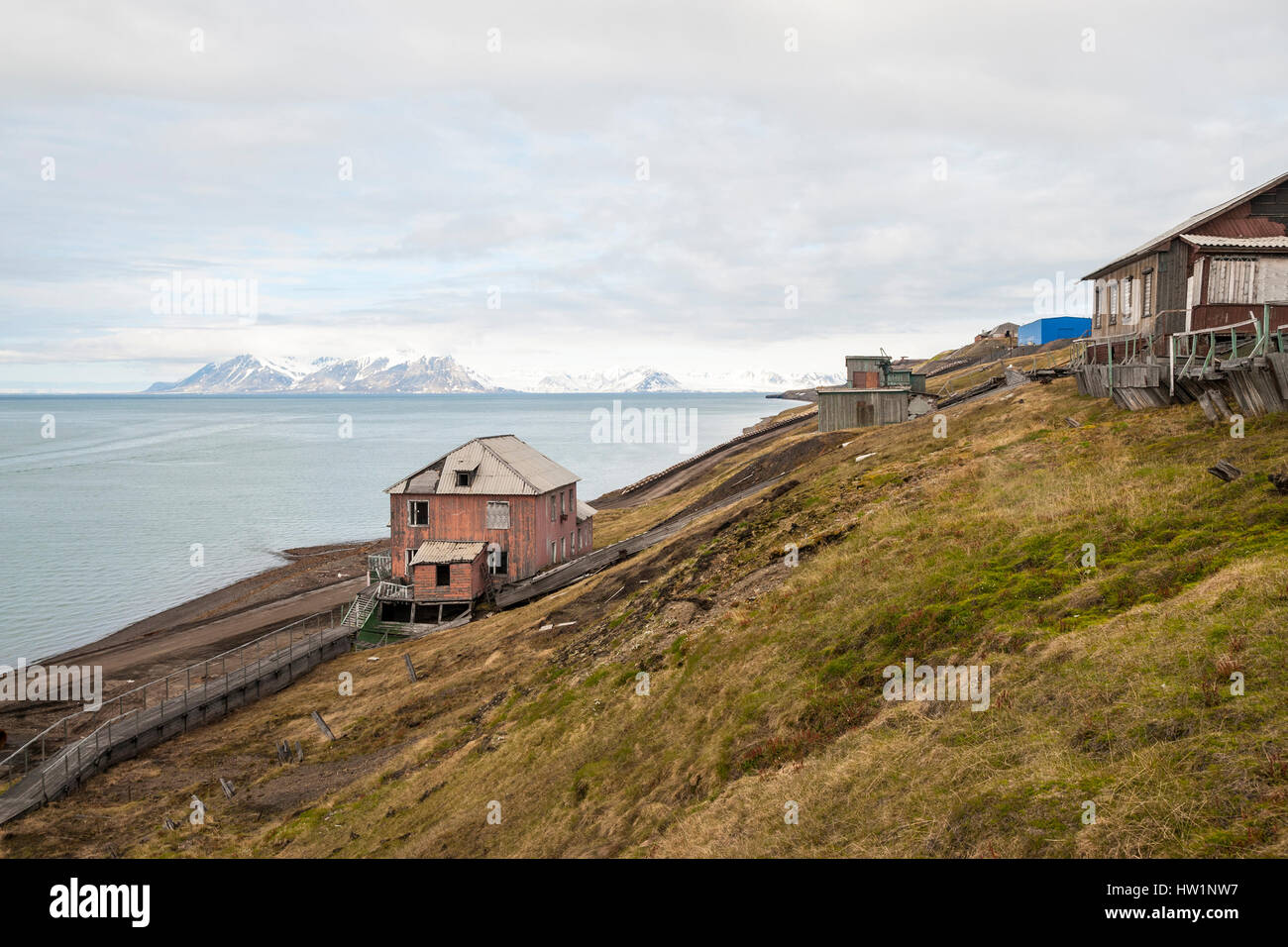 norway svalbard barentsburg stockfotos norway svalbard barentsburg bilder alamy. Black Bedroom Furniture Sets. Home Design Ideas