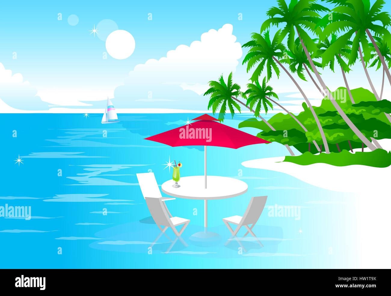 Liegestuhl mit sonnenschirm clipart  Abwesenheit, Strand, Liegestuhl, Sonnenschirm, Clipart, Cloud, Farbe ...