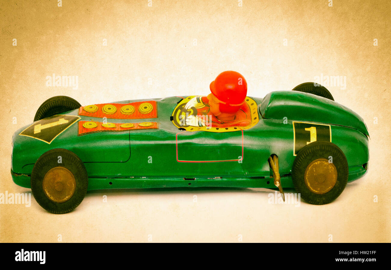 Autos & Lkw Blechspielzeug Rennwagen mit Fahrer