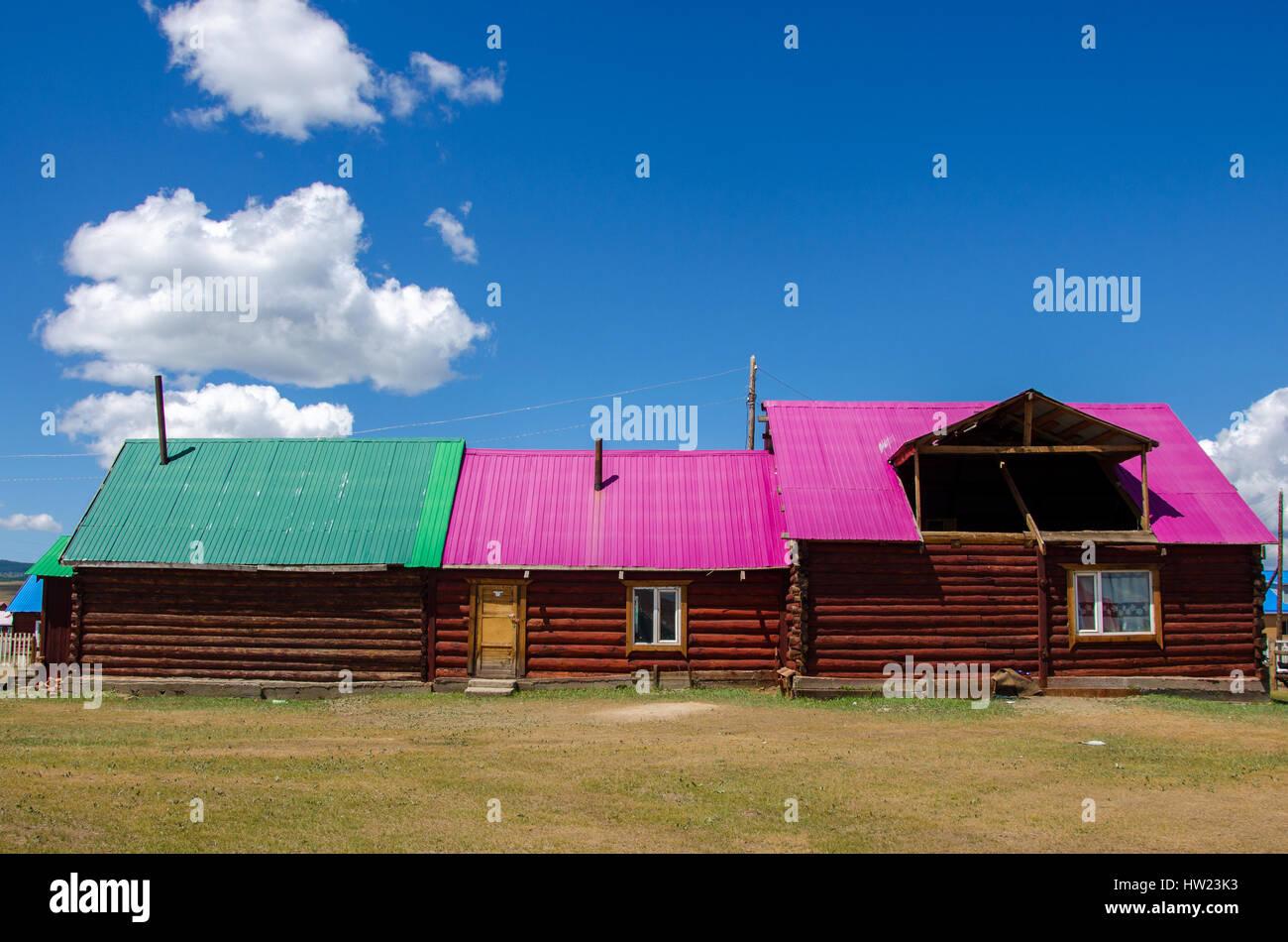 Die taiga Haus, tsagaanuur, Mongolei Stockbild