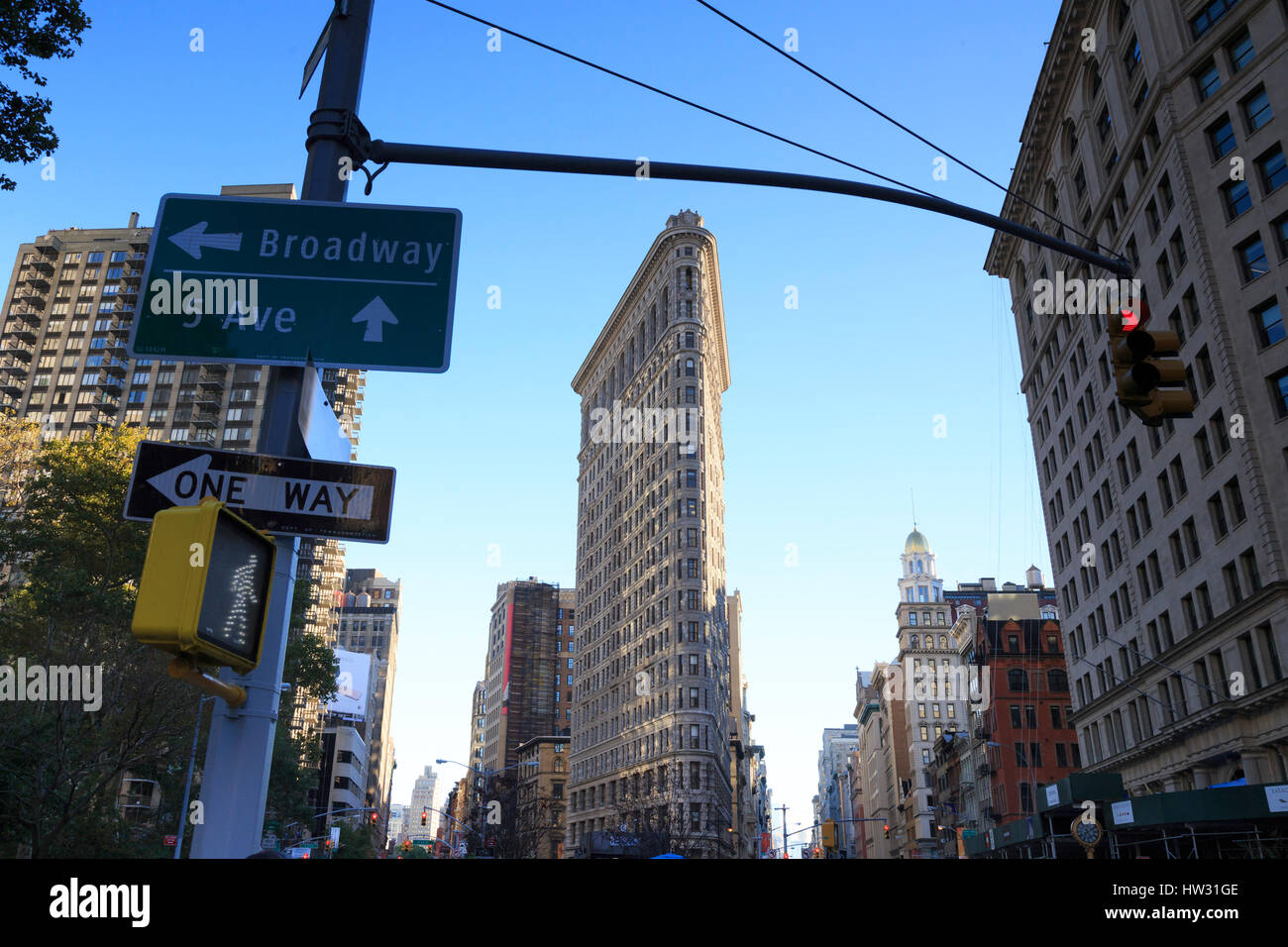 USA, New York, New York City, Manhattan, Flatiron Building Stockbild