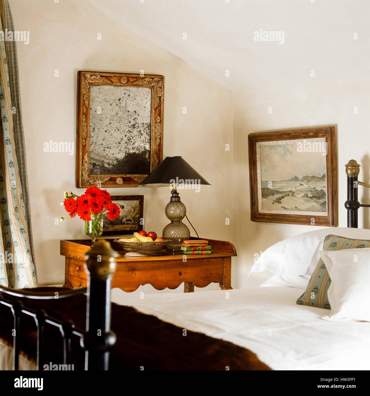 Rustikale Schlafzimmer Stockfoto, Bild: 135917209 - Alamy