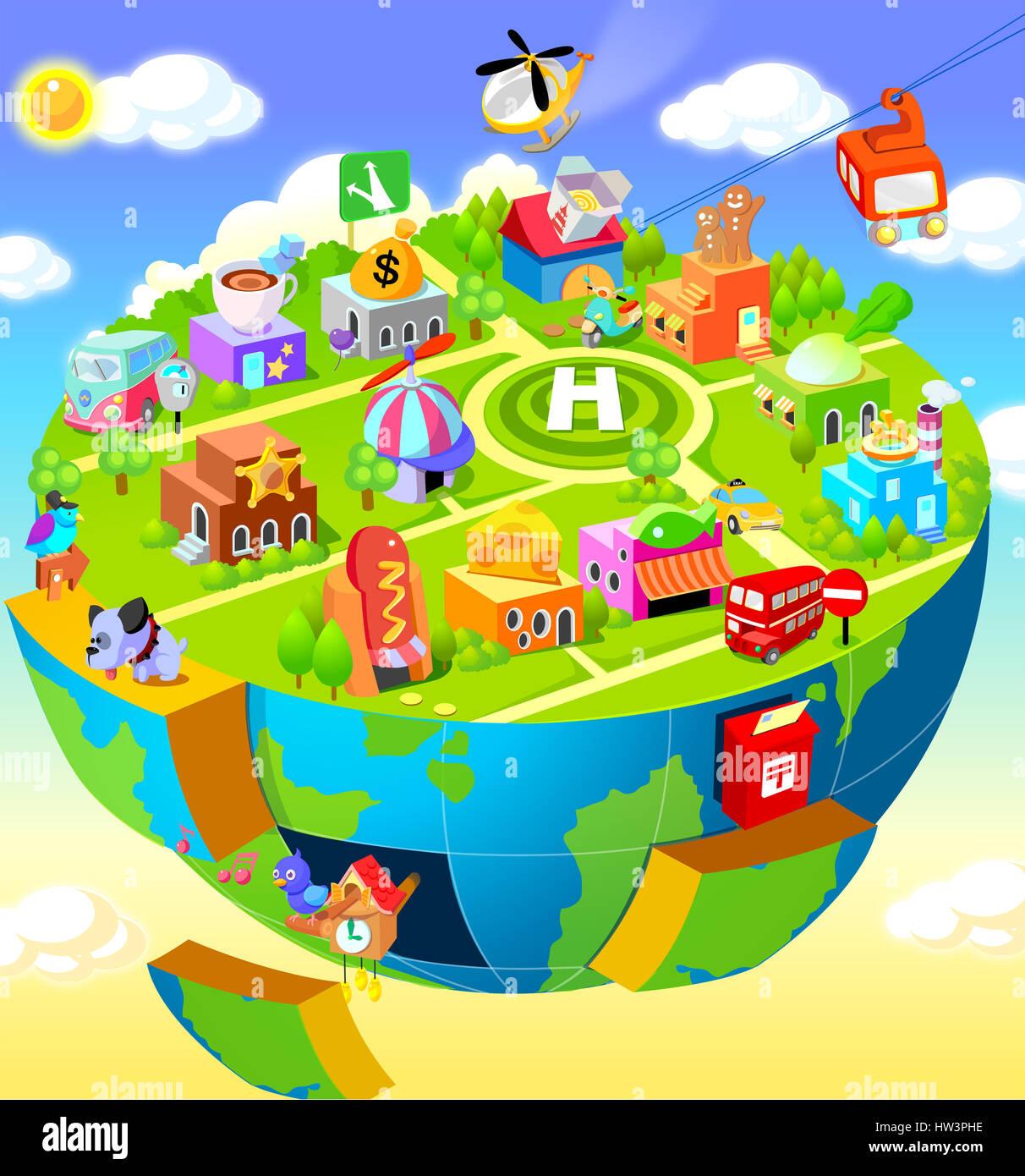 Tier-, Architektur-, Pfeil-, Getränke-, vogel, vögel, Gebäude, Außen ...