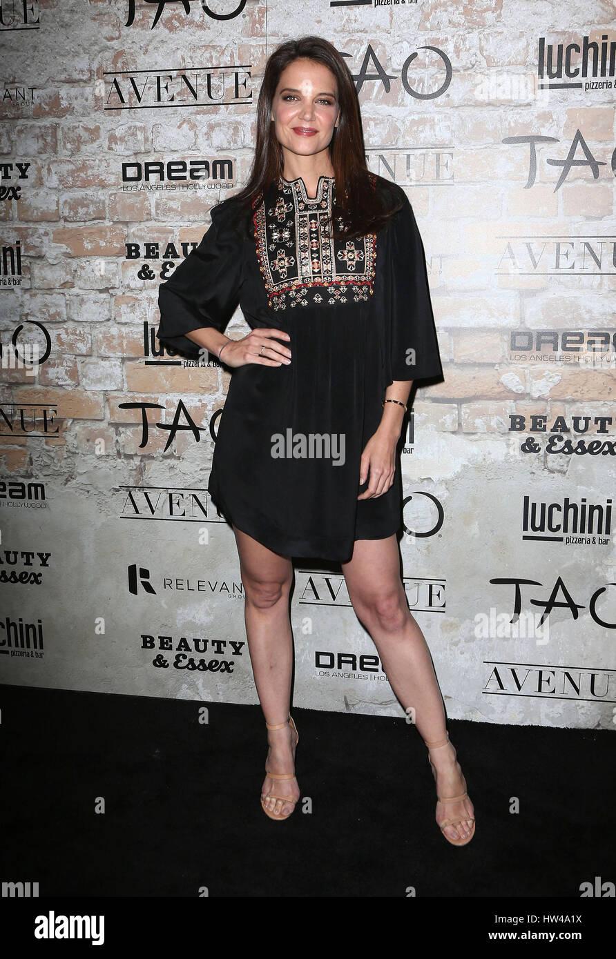 Los Angeles, CA, USA. 16. März 2017. 16. März 2017 - Los Angeles, Kalifornien - Katie Holmes. TAO, Schönheit Stockbild