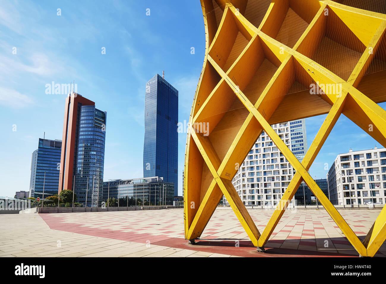 Vienna moderne Architektur in der UNO City Komplex, Österreich. Stockfoto