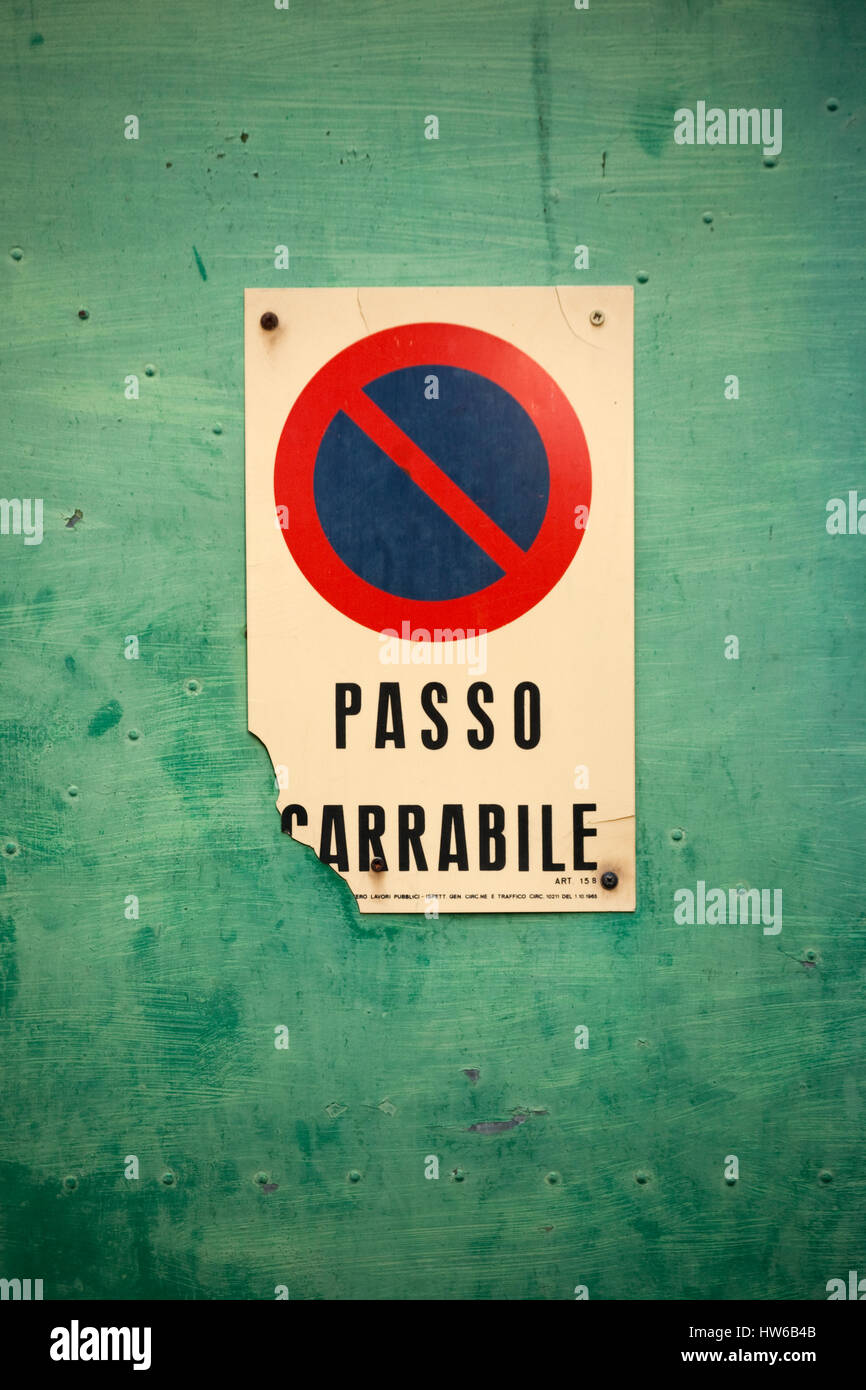 warning italian italy stockfotos warning italian italy. Black Bedroom Furniture Sets. Home Design Ideas