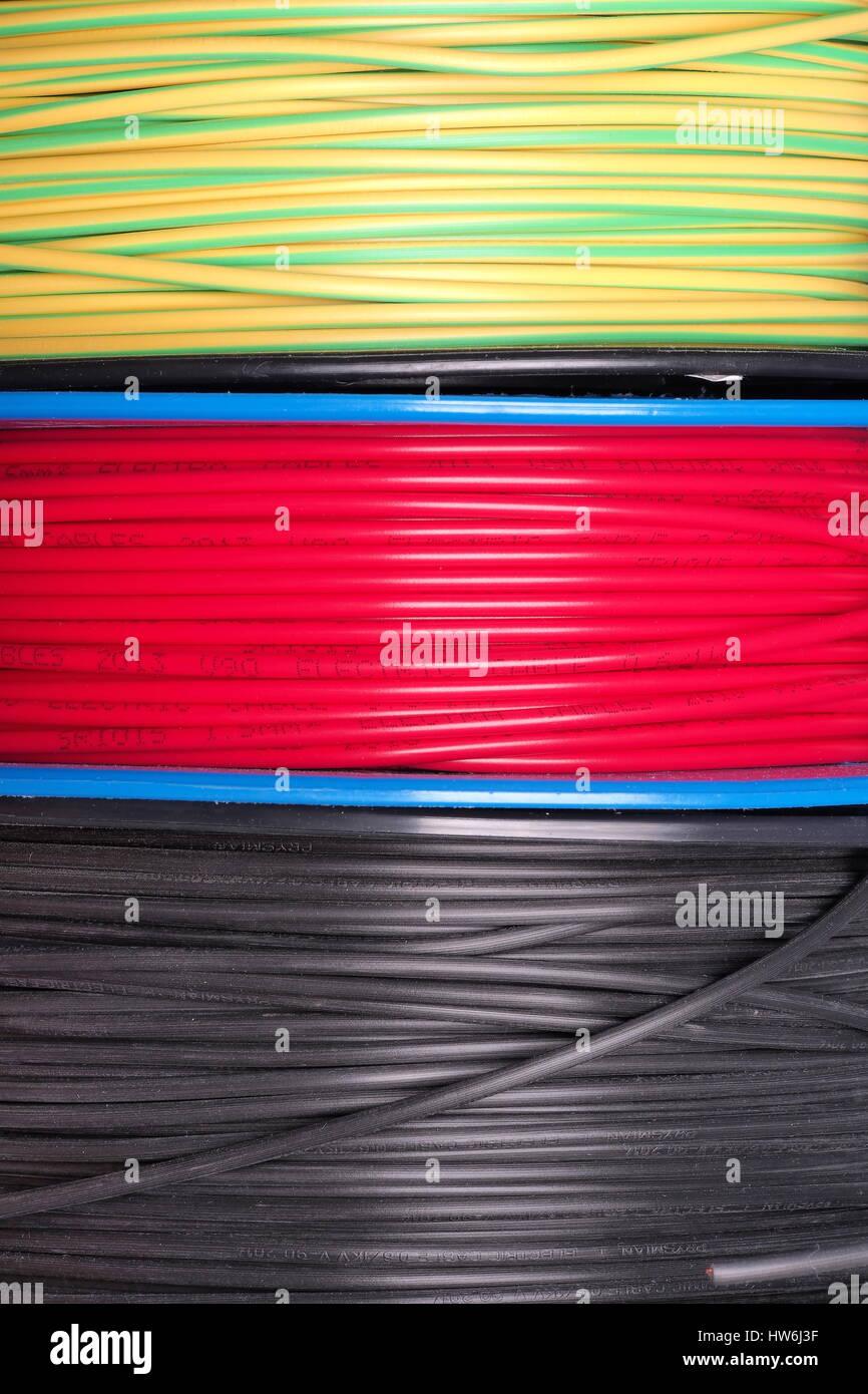 Wire Spools Stockfotos & Wire Spools Bilder - Alamy