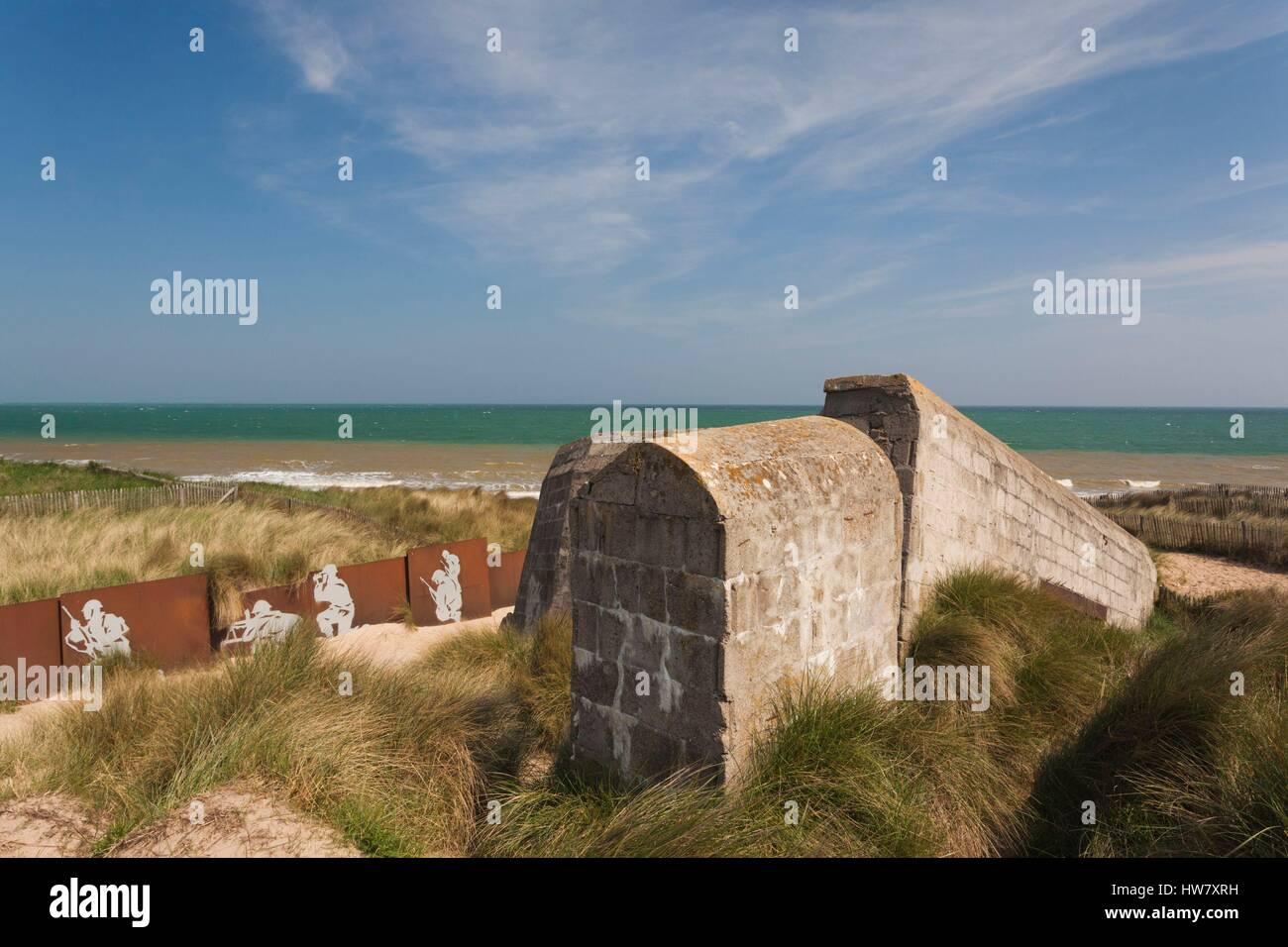 Frankreich Calvados D Day Strände Gegend Courseulles Sur Mer