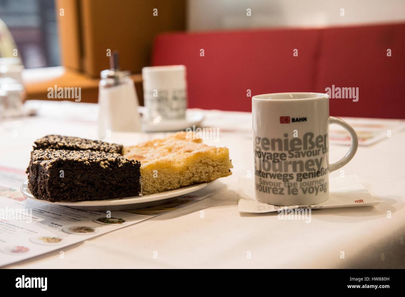 Berlin Gemrany 7 Marz 2017 Kaffee Und Kuchen Erhalten Sie
