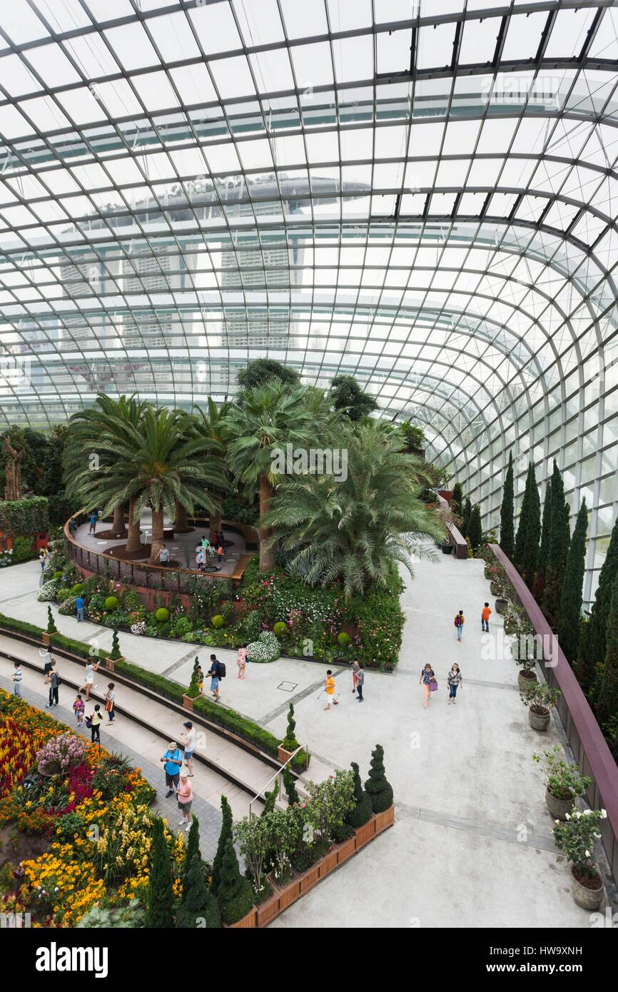 Singapur, Gardens By The Bay, Flower Dome indoor Botanischer Garten ...