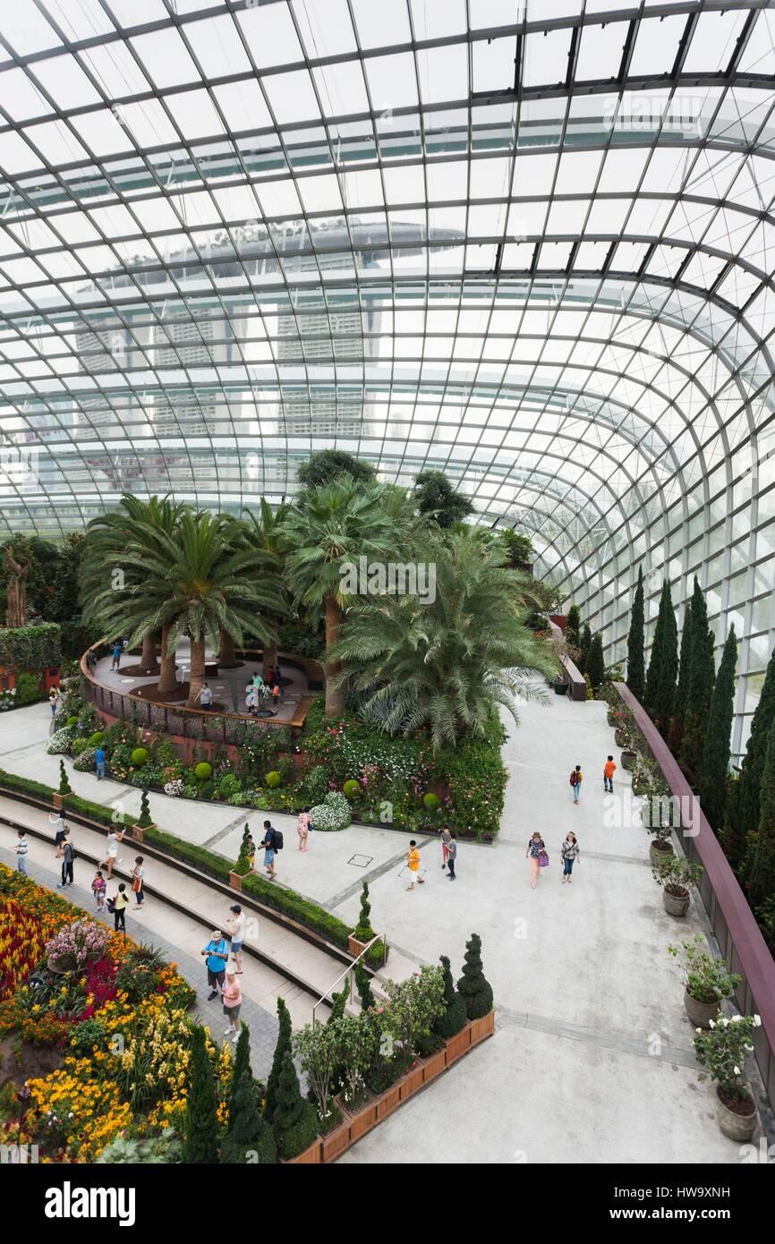 Singapur, Gardens By The Bay, Flower Dome indoor Botanischer ...