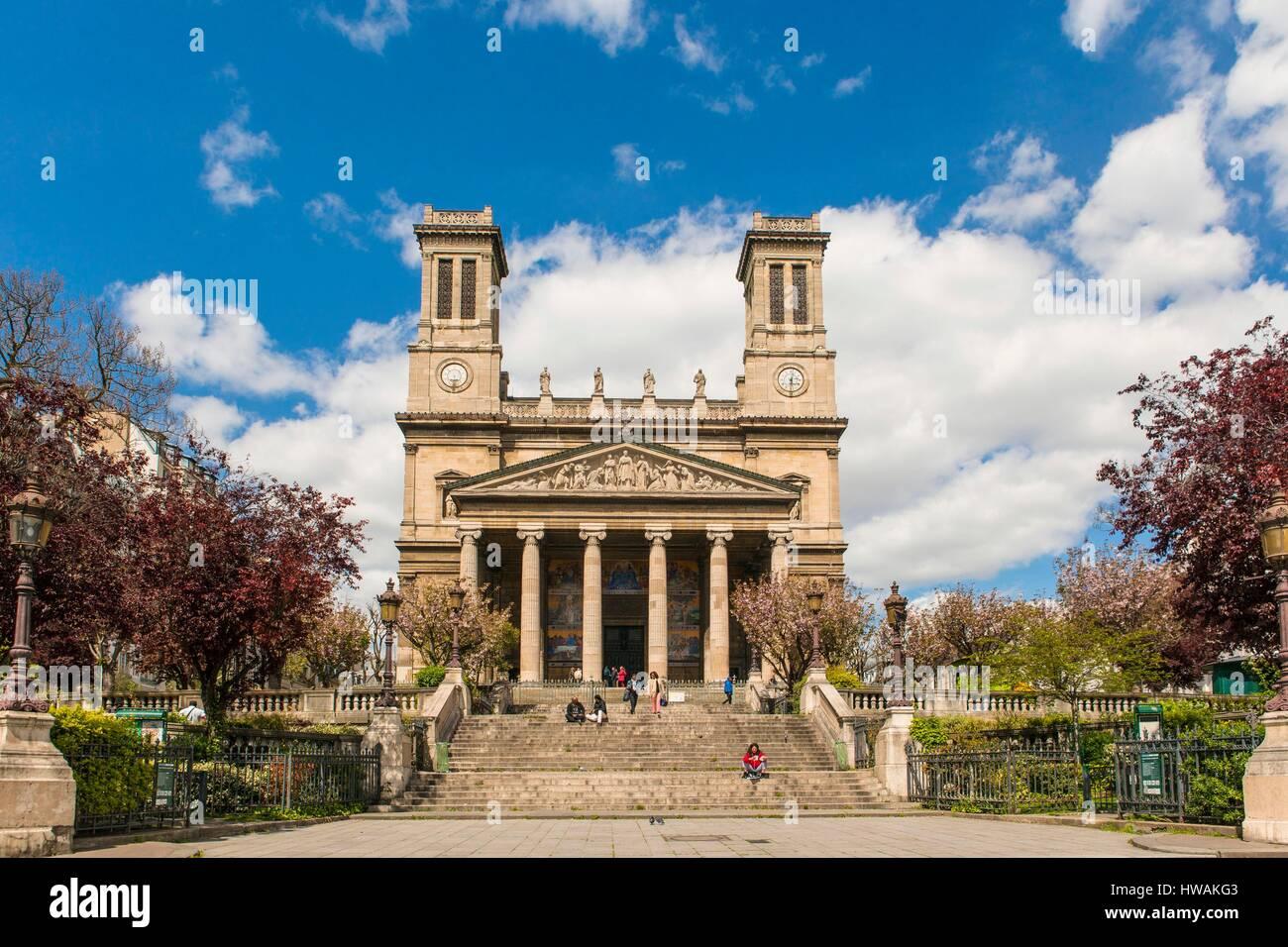 Frankreich, Paris, der Gemeinde von Saint Vincent de Paul Stockbild