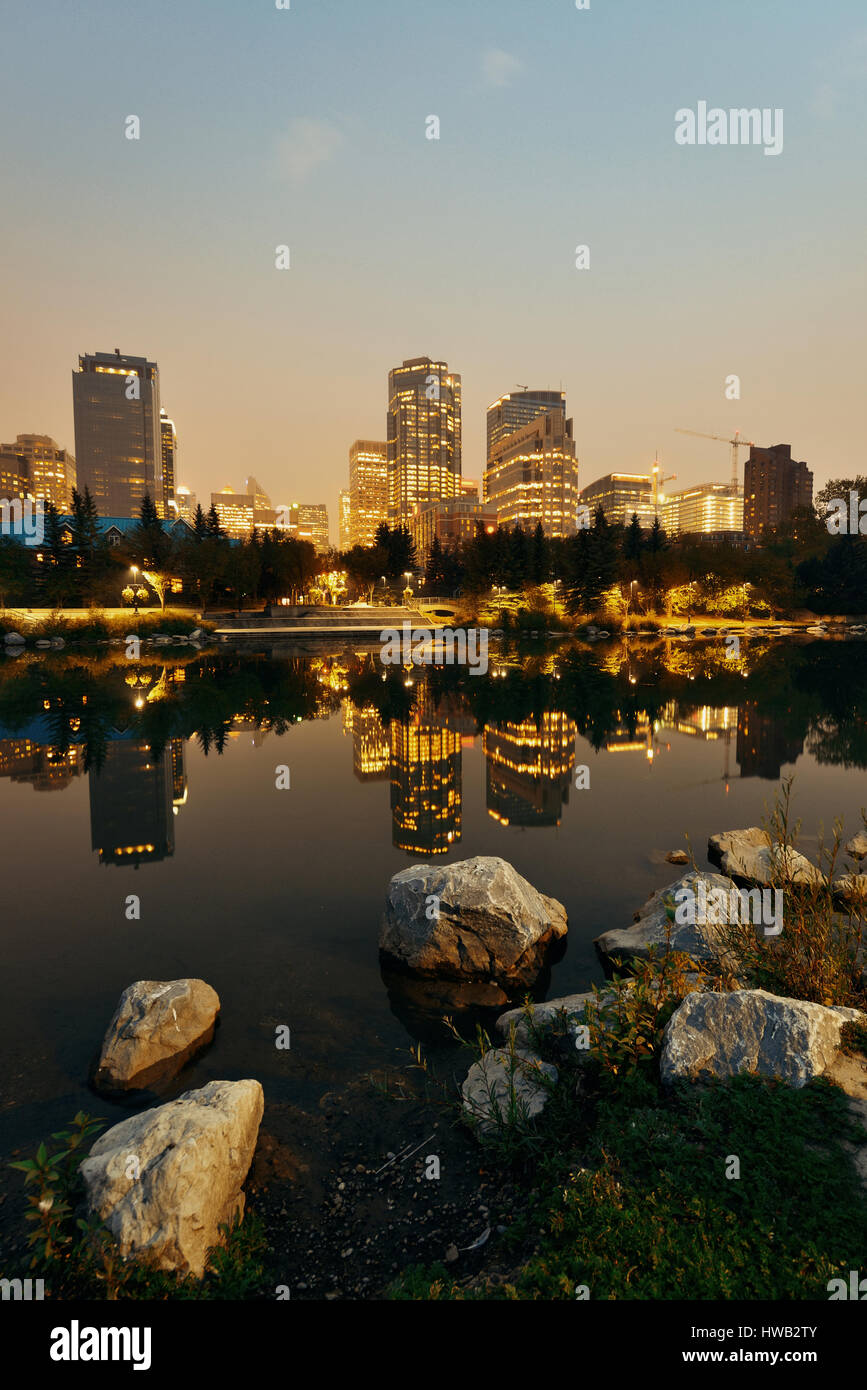 Calgary Prinz Insel in der Nacht, Kanada. Stockbild