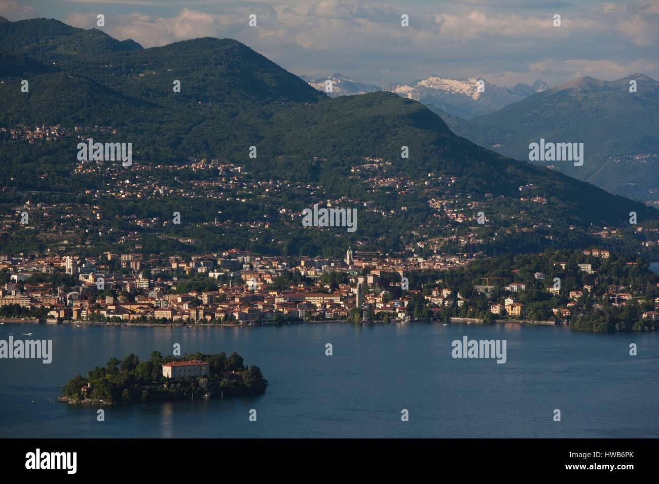 Verbania Lago Maggiore Karte.Italien Piemont Lago Maggiore Stresa Borromäischen Inseln Isola