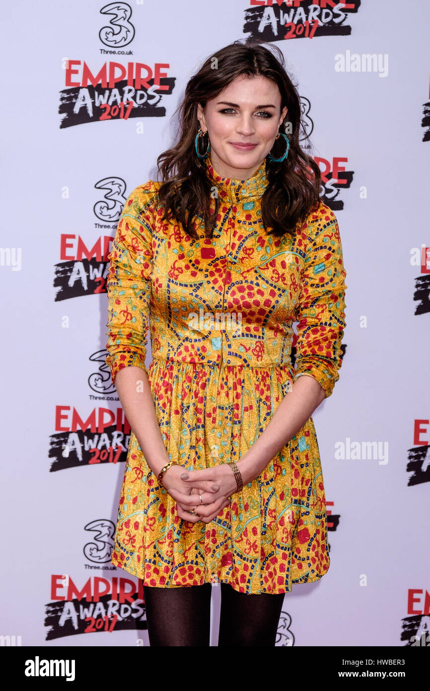 London, UK. 19. März 2017. Aisling Bea besucht die drei Empire Awards im The Roundhouse, London am 19.03.2017 Stockbild